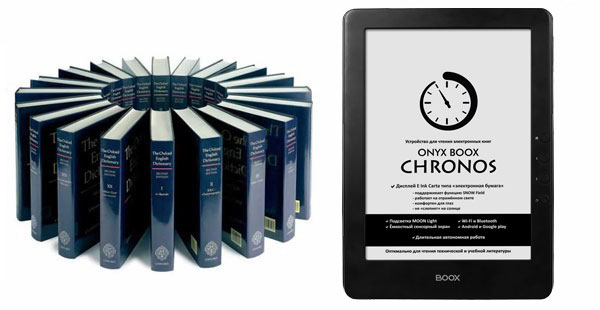 Встроенные словари ONYX BOOX Chronos