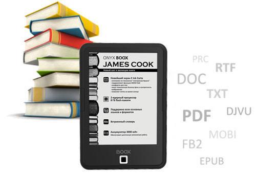 Поддержка форматов ONYX BOOX James Cook
